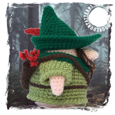 Robin Hood Gonk Free Crochet Pattern - Doll Clothes - Hooked On Patterns 94fd459b855