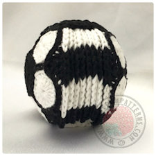 Soccer Football Coasters Crochet Pattern