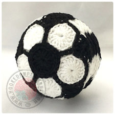 Soccer Football Coaster Set Crochet Pattern