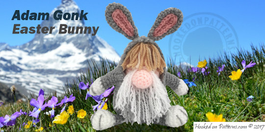 Bunny Gonk free crochet - Crochet Blog from Hooked On Patterns