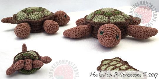 Cute Turtle Crochet Pattern Tortoise Hooked On Patterns
