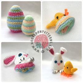 Easter Bunny Flips Crochet Pattern