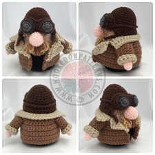 Transport Gonks Crochet Patterns Pilot Gonk Outfit