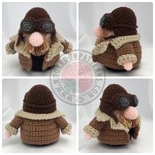 Pilot Gonk Outfit Crochet Pattern