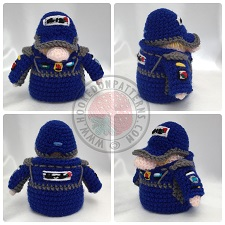 Transport Gonks Crochet Patterns Racing Driver Gonk Outfit
