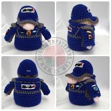 Transport Gonks Crochet Patterns Racing Driver Gonk Outfit