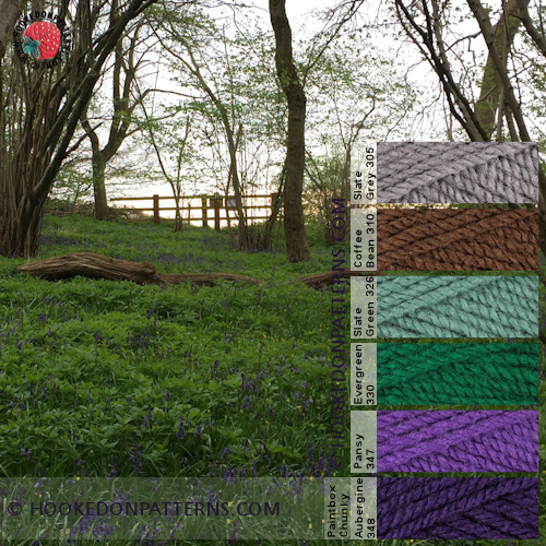 Yarn Colour Palettes - Purple field