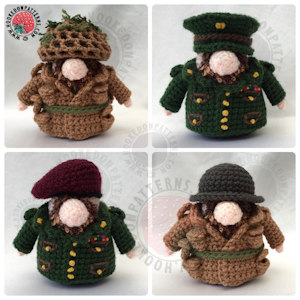 Gonk Heroes Army Soldier Crochet - Gonk Heroes crochet pattern