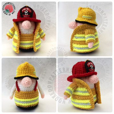 Fireman Gonk Free Crochet Pattern Outfit Hooked On Patterns