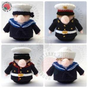 How to crochet a marine uniform
