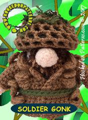 Soldier Gonk Crochet Pattern Card 2