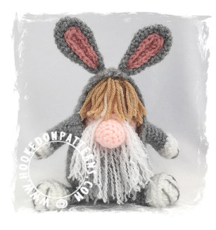 Top 5 Gonks - Bunny Crochet Pattern