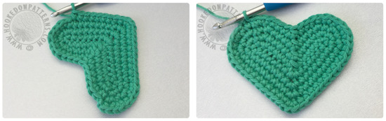 Free crochet coaster pattern - Heart Shaped