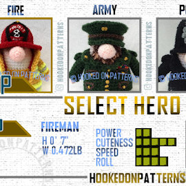 Gonk Heroes Crochet Pattern