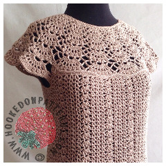 New Crochet Patterns - Bellissa Tucked Hem Crochet Pattern