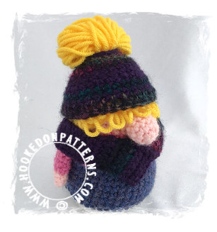 Eve Gonk Messy Bun Free Crochet Pattern