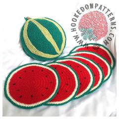 Watermelon Placemat Crochet Pattern
