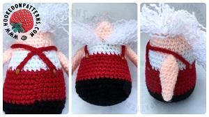 Santa Gonk Outfit Free Crochet Pattern