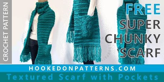 Free Crochet Scarf Pattern Super Chunky Hooked On Patterns Awesome Free Scarf Crochet Patterns