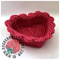 Heart Basket Crochet Pattern