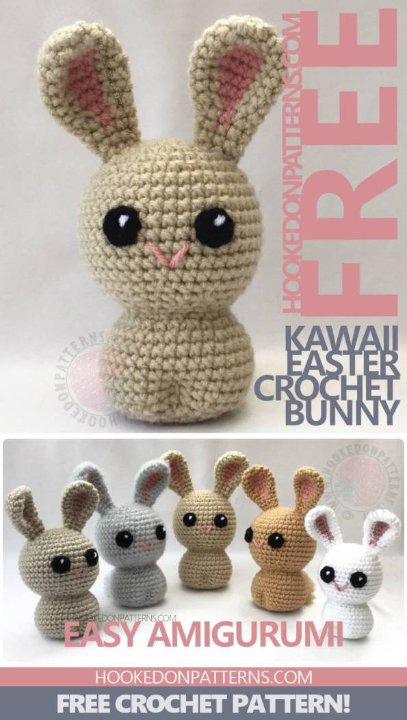 3b35ffe4a4e Free Crochet Bunny Pattern - Kawaii Bunnies - Hooked On Patterns