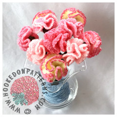Free Crochet Flowers Pattern Carnations