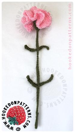 Free Crochet Flowers Carnations Pattern