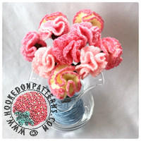 Free Crochet Flowers Pattern for Carnations