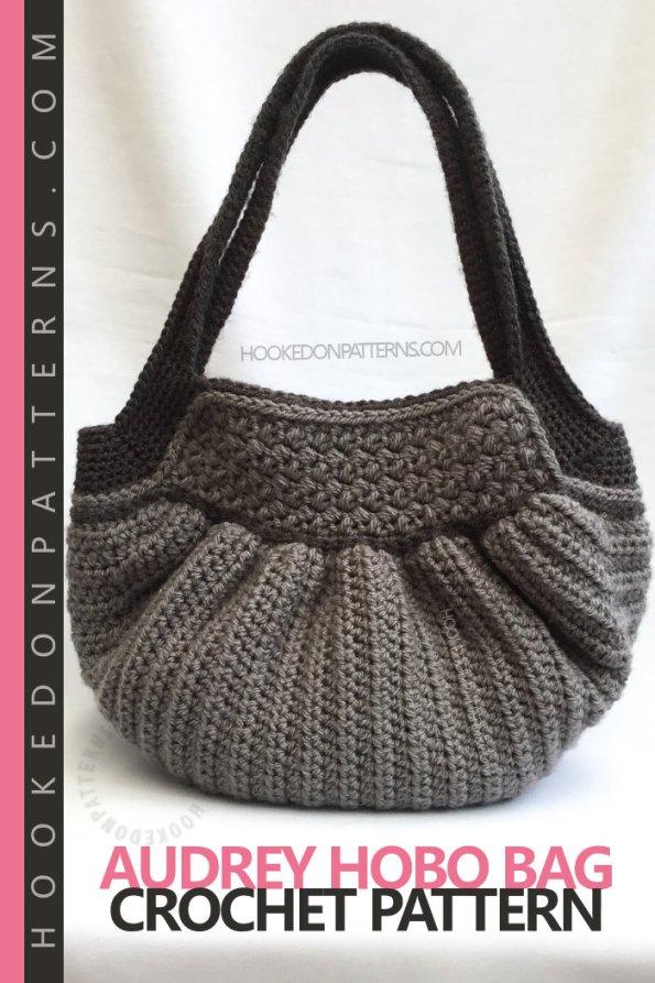 Handbag Crochet Pattern - Audrey Hobo Bag