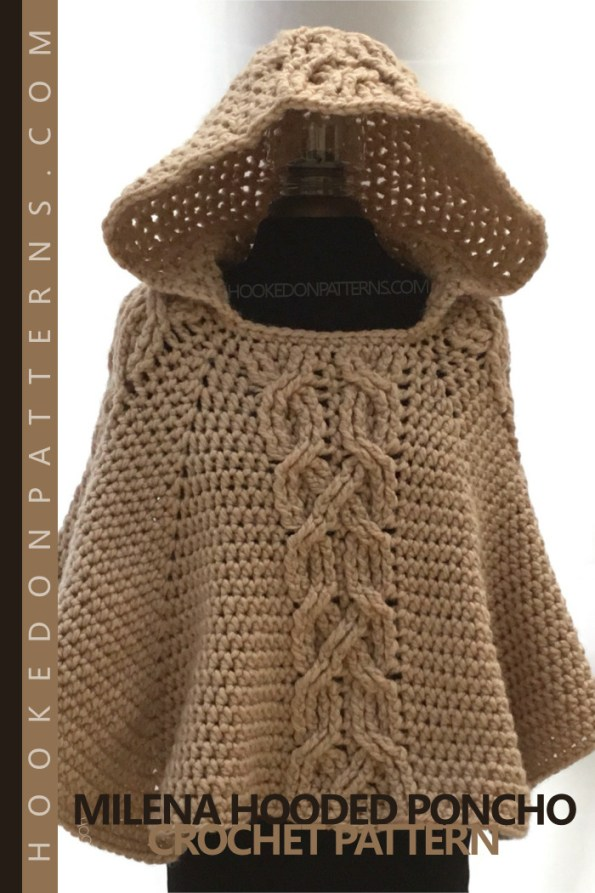 Milena Hooded Poncho Crochet Pattern