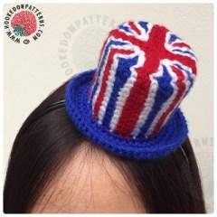 Crochet Union Jack Fascinator Free Pattern