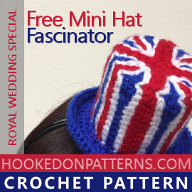 Crochet Union Jack Fascinator Free Pattern