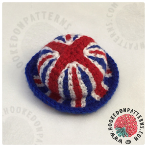 Union Jack Bowler Hat Crochet Pattern for Gonk