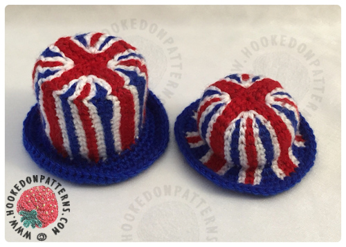 Royal Wedding Celebration Gonk Union Jack Hats Crochet Pattern for Gonk