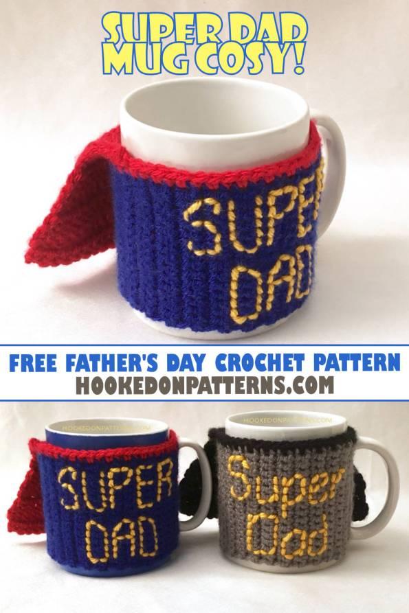 Free Father's Day Crochet Pattern - Free Crochet Patterns Mug Cosy