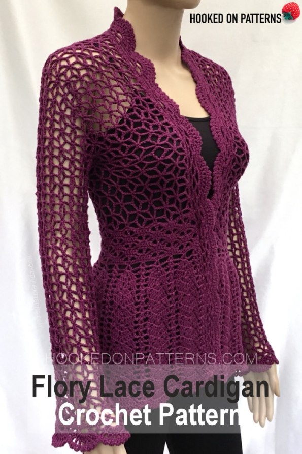 Flory Lace Cardigan Crochet Pattern - Hooked On Patterns Crochet Patterns To Wear
