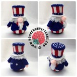 Independence Day Crochet Pattern Uncle Sam Gonk Outfit
