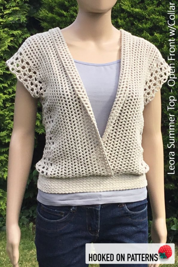 Crochet Summer Top Pattern - Versatile Vest - Leora Summer Top Crochet Pattern - Multiple Style Options - Folded Open Front