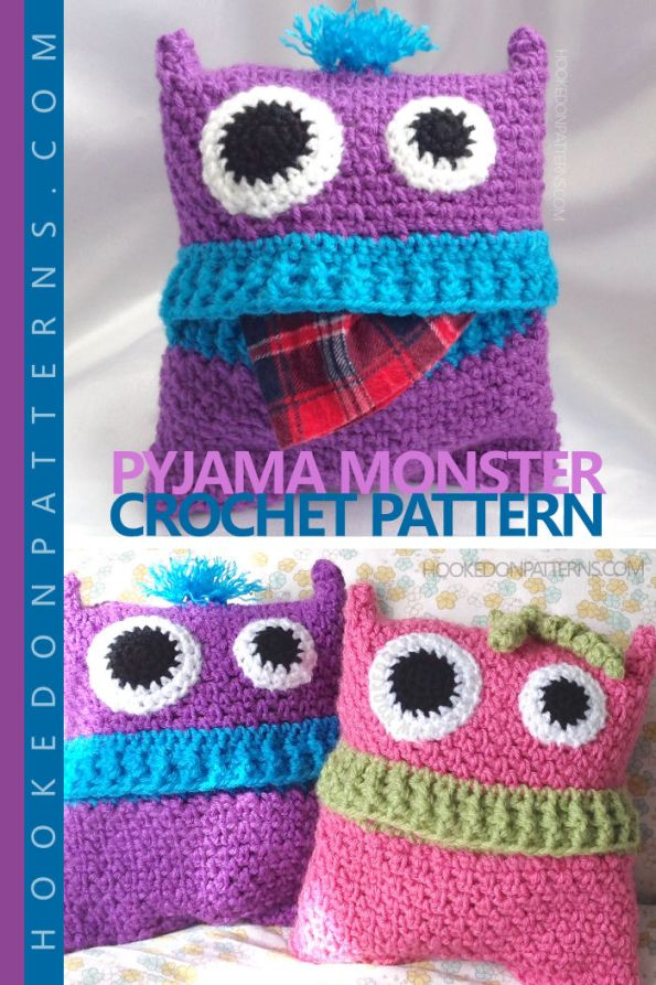 Pyjama Monsters Crochet Pattern - Pajama Case - Kids Crochet Patterns