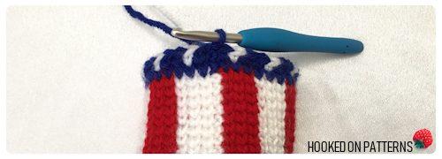 4th of July American Flag Fascinator FREE Crochet Pattern