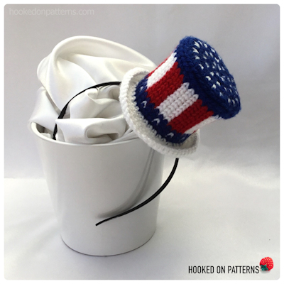 Stars and Stripes US Flag Top Hat Fascinator