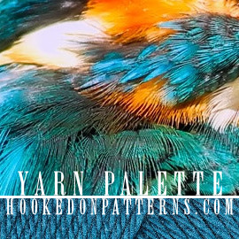 Yarn Palette Color Scheme 06 Kingfisher Bird