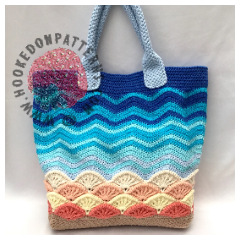 Beach Bag Crochet Pattern - Sea Shells