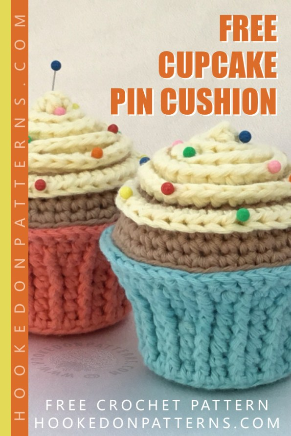 Free Cupcake Pin Cushion Crochet Pattern Pin