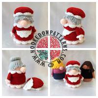 Christmas Eve Gonk Crochet Pattern thumbnail image