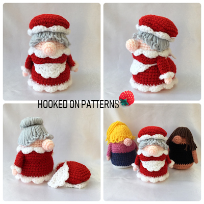 Christmas Eve Gonk Crochet Pattern Multi-view image