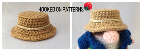 Tourist Gonk Crochet Pattern image of the crochet bucket sun hat