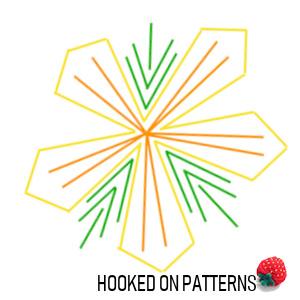 Guidance diagram of a Hawaiian style flower