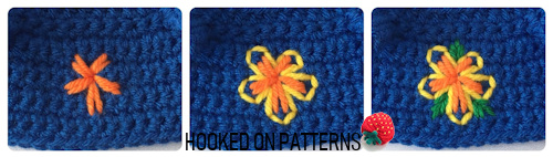 Tourist Gonk Crochet Pattern image for the Hawaiian Shirt Flowers