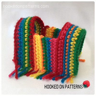 Mini Striped Poncho Doll Clothes Crochet Pattern